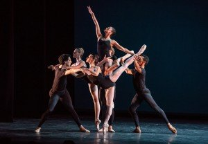 "Boston Ballet dancers in Jorma Elo's ""Bach Cello Suites"" Photo by Stephanie Berger."