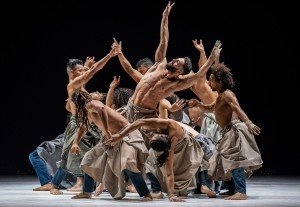 """Cie Herve Koubi dancers in """"The Barbarian Nights, or the First Dawns of the World"""" (excerpt) Photo by Stephanie Berger"""