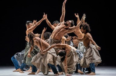"Cie Herve Koubi dancers  in ""The Barbarian Nights,  or the First Dawns of the World"" (excerpt)  Photo by Stephanie Berger"