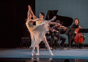 "Alina Cojocaru and Herman Cornejo in Sir Frederick Ashton's ""Rhapsody"" (excerpts) Photo by Stephanie Berger"
