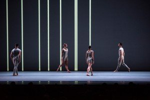 "Members of INTRODANS in Lucinda Childs's ""Canto Ostinato"" Photo by Stephanie Berger"