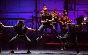 "Members of Rennie Harris Puremovement - American Street Dance Theater in ""Funkedified"" Photo by Stephanie Berger"