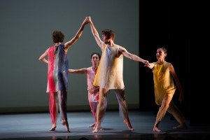 "Members of Pam Tanowitz Dance in ""New Work for Goldberg Variations"" Photo by Paula Lobo"