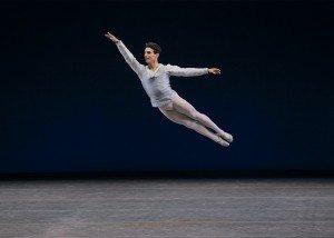 """Joaquin De Luz in George Balanchine's """"Tchaikovsky Pas de Deux"""" Photo by Paul Kolnik"""
