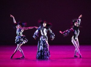 "(l-r) Sara Mearns, Georgina Pazcoguin and Ashley Bouder in Kyle Abraham's ""The Runaway"" Photo by Paul Kolnik"