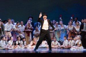 "Jeff Stanton and Oregon Ballet Theatre dancers in August Bournonville's ""Napoli"" Photo by Jingzi Zhao"