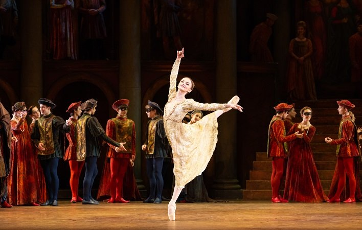 Oksana Maslova with Artists of Pennsylvania Ballet Photo: Alexander Iziliaev