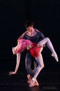 "Stephanie Williams and Barton Cowperthwaite in Tom Gold's ""Apparatus Hominus"" Photo by Ani Collier"