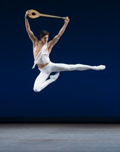 "Xander Parish of The Mariinsky Ballet in George Balanchine's ""Apollo"" Photo by Paul Kolnik"