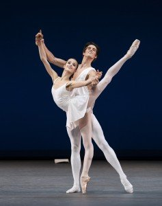 "Maria Khoreva and Xander Parish of The Mariinsky Ballet in George Balanchine's ""Apollo"" Photo by Paul Kolnik"