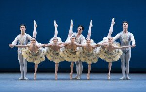 "Members of San Francisco Ballet in George Balanchine's ""Divertimento No. 15"" Photo by Paul Kolnik"