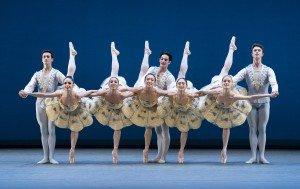 "Members of San Francisco Ballet in George Balanchine's ""Divertimento No. 15"" Photo by Paul Kolnik"