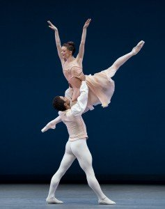"Anna Rose O'Sullivan and Marcelino Sambé of The Royal Ballet in George Balanchine's ""Tchaikovsky Pas de Deux"" Photo by Paul Kolnik"