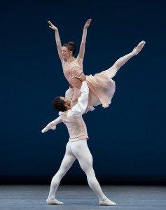 "Anna Rose O'Sullivan and Marcelino Sambé of The Royal Ballet in George Balanchine's ""Tchaikovsky Pas de Deux"" Photo by Paul Kolnik"