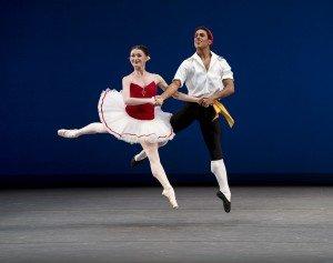 "Anna Rose O'Sullivan and Marcelino Sambé of The Royal Ballet in George Balanchine's ""Tarantella"" Photo by Paul Kolnik"