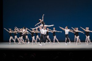 "The Joffrey Ballet in George Balanchine's ""The Four Temperaments"" Photo by Paul Kolnik"