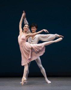 "Viktoria Tereshkina and Kimin Kim of The Mariinsky Ballet in George Balanchine's ""Tchaikovsky Pas de Deux"" Photo by Paul Kolnik"