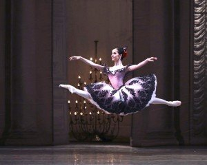 "Maria Khoreva in Marius Petipa's ""Paquita,"" 3rd act (Grand Pas) reconstructed by Yuri Burlaka, while at Vaganova Academy. under the direction of Nikolai Tsiskaridze Photo by Andrew Lush Courtesy of The Mariinsky Ballet"