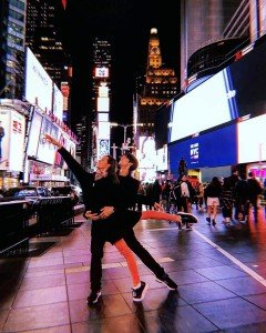 At Times Square with Xander Parish Photo by Daria Ionova