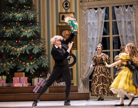 "Pacific Northwest Ballet dancer Seth Orza in ""George Balanchine's 'The Nutcracker'"" Photo by Angela Sterling"