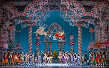 "Pacific Northwest Ballet dancers and PNB School students in ""George Balanchine's 'The Nutcracker'"" Photo by Angela Sterling"