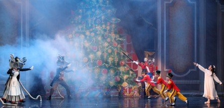 "American Repertory Ballet dancers in ""Nutcracker"" Photo by Leighton Chen"
