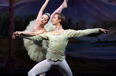 "Unity Phelan and Joseph Gordon  appearing in American Repertory Ballet's ""Nutcracker""  Photo by Leighton Chen"