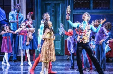 "Gianni Di Marco and cast  in Anthony Williams's ""Urban Nutcracker""  Photo by Peter Paradise"