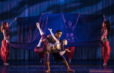 """Ruth Bronwen Whitney and dancers in Anthony Williams's """"Urban Nutcracker"""" Photo by Peter Paradise"""