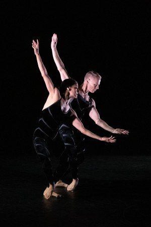 "Dance Magazine Awardee Michael Trusnovec and Parisa Khobdeh appearing at the Dance Magazine Awards in Paul Taylor's ""Promethean Fire"" Photo by Christopher Duggan"