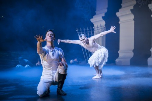Matthew Bourne's Swan Lake, Dominic North and Will Bozier Photo: Johan Persson