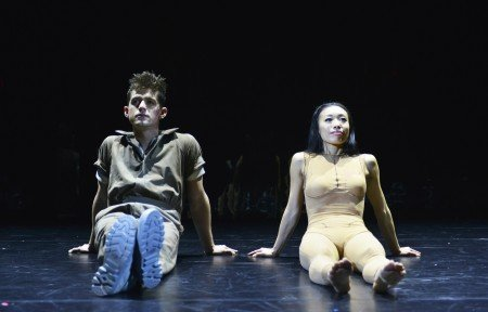 """Chase Brock Experience dancers Spencer Ramirez and Yukiko Kashiki in """"The Girl with the Alkaline Eyes"""" Photo by Michael Kushner Photography"""