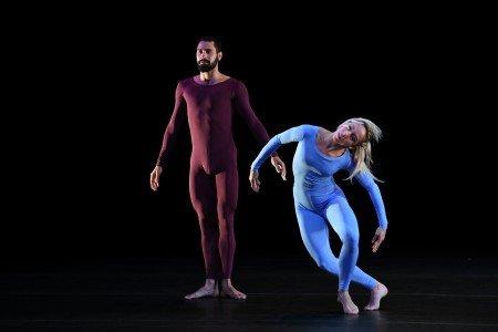 "Abel Rojo and Maria Karla Araujo of Malpaso Dance Company in Merce Cunningham's ""Fielding Sixes"" Photo by Nir Arieli"