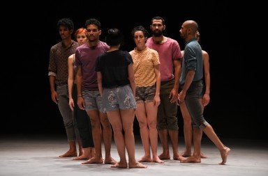"Members of Malpaso Dance Company  in Ohad Naharin's ""Tabula Rasa""  Photo by Nir Arieli"