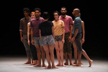 "Members of Malpaso Dance Company in Ohad Naharin's ""Tabula Rasa"" Photo by Nir Arieli"
