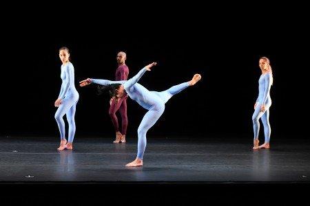"""Members of Malpaso Dance Company  in Merce Cunningham's """"Fielding Sixes"""" Photo by Nir Arieli"""