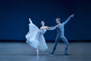 "Lauren Lovette and Ask la Cour in George Balanchine's ""Serenade"" Photo by Paul Kolnik"