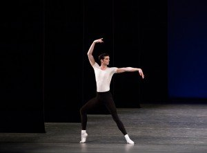 "Peter Walker in George Balanchine's ""Agon"" Photo by Paul Kolnik"