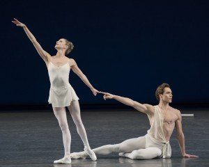 "Sterylin Hyltin and Gonzola Garcia in George Balanchine's ""Apollo"" Photo by Paul Kolnik"