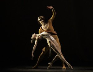 """Sterling Hyltin and Gonzalo Garcia in George Balanchine's """"Orpheus"""" Photo by Erin Baiano"""