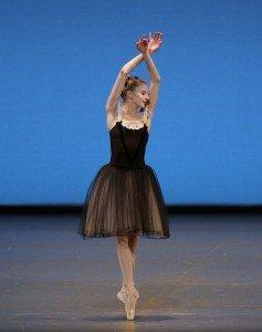 "Sterling Hyltin in George Balanchine's ""Mozartiana"" Photo by Paul Kolnik"