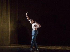 Alvin Ailey American Dance Theater's Jeroboan Bozeman in Rennie Harris's Lazarus, photo by Paul Kolnik