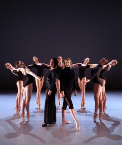 BalletNext (center, l-r) Dr. Vedrana Subotic and Michele Wiles, and (l-r) Sarah Murphy, Sydney May, Emma Watson, Tia Sandman, Lauren Wattenberg, Danielle Dreis, and Amy McMaster Photo by Eduardo Patino