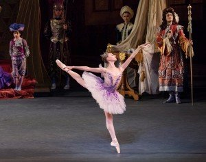 "Ashley Laracey and members of New York City Ballet in Peter Martins's ""The Sleeping Beauty"" Photo by Paul Kolnik"