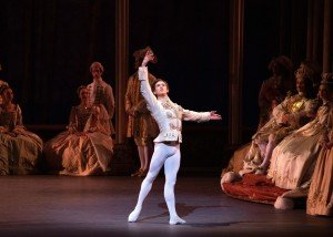 "Joseph Gordon and members of New York City Ballet in Peter Martins's ""The Sleeping Beauty"" Photo by Erin Baiano"