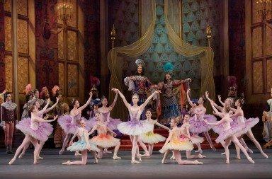 "Teresa Reichlen  and members of New York City Ballet  in Peter Martins's ""The Sleeping Beauty""  Photo by Paul Kolnik"