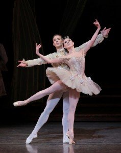 "Tiler Peck and Tyler Angle in Peter Martins's ""The Sleeping Beauty"" Photo by Paul Kolnik"
