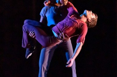 """(f-r) Brandon Leffler and DeMarcus Suggs  in Ian Horvath's """"No Dominion""""  Photo by Bill Naiman"""