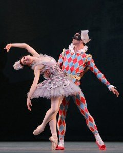Isabella Boylston and James Whiteside in Harlequinade, photo by Marty Sohl