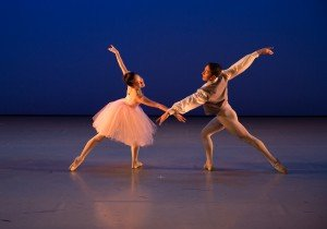 """Ballet Academy East student dancers Jenny Ku and Santiago Jimenez Vargas in """"Valse Fantaisie"""" choreographed by George Balanchine © The George Balanchine Trust Photo by Rosalie O'Connor"""
